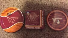 VIRGINIA TECH Hokies - Party Set Pack Kit w/ 8 Small & 8Large Plates 16 Napkins