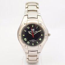 HMO Perpetual Time Solar Powered acero señores Quartz reloj de pulsera de los 90er J.