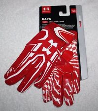 Under Armour Red UA F5 Youth Boys Kids Football Gloves YMD 1271185 NEW Pair