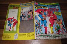 SUPERMAN gegen ROTER BLITZ SONDERAUSGABE -- mit Sammelecke+Diorama 1. Aufl. 1977