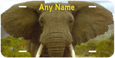 African Elephant Personalized Any Name Car Auto License Plate