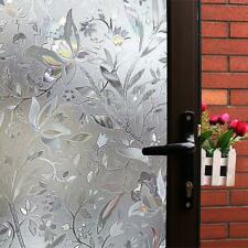 Mikomer Tulip Decorative Window Film,No Glue Privacy Film,Stained Glass Door