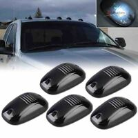 5pcs White Cab Lights Smoked Lens Running Marker Parking Roof Top LED Truck SUV
