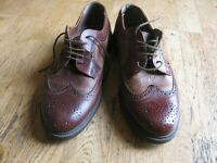 PAIR MEN'S CLARKS BROWN LEATHER BROGUES. UK SIZE 11 'CHART LIMIT' GOOD CONDITION