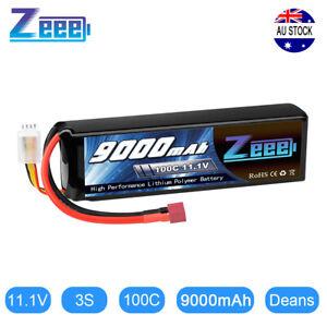Zeee 9000mAh 3S 11.1V 100C Metal Plates LiPo Battery Deans for RC Car Truck Tank