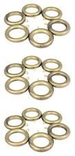Pack 18 x  Antique Ant Gold Wood Wooden Curtain Rings to suit 28mm Pole