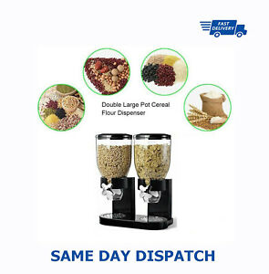 Double Ceral Dispenser Dry Food Storage Container Dispenser Machine 2 Colours