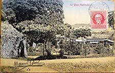 Santiago de Cuba 1921 Postcard: Villa Marimon - Sent to Greece