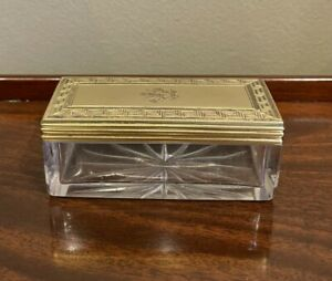 Antique Sterling Silver Hallmarked 1875 Silver Gilt Dressing Table Jar W Neal.