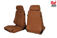 2 Recaro Specialist M Leder cognac neu bezogen für  Defender VW t4, t5, T3 Sitze