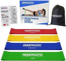 4 Bandes Elastique de Resistance Bande Fitness Musculation avec Guide d'Exercice