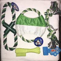Set of 4 Dog Chew Cotton Rope Puppy Doggie Small Med Dog Gift Set Random Color