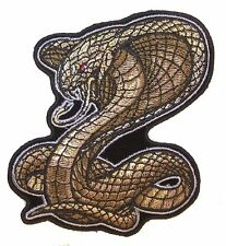COILED COBRA EMBROIDERED PATCH 6423 reptile snakes jacket vest jeans patches NEW