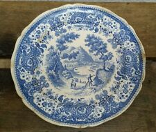 alte Villeroy & Boch SPEISETELLER 25 cm Burgenland blau Porzellan Saar Germany