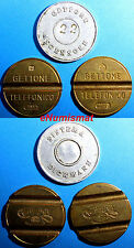 ITALY  LOT OF 3 TOKENS TELEPHONE TOKEN .....