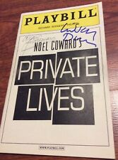 ALAN RICKMAN SIGNED PRIVATE LIVES PLAYBILL LINDSAY DUNCAN HARRY POTTER 2002 NYC