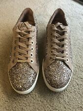 Jimmy Choo Women Cash Studded Suede Trimmed Leather Sneakers Size 36.5
