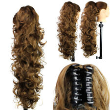 Hair Extension Hair Wave Ombre Claw Jaw Pony tail Clip In Synthetic Ponytail