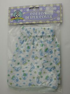 Vintage Baby Looney Tunes Cotton Diaper Cover Blue Sylvester