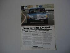 advertising Pubblicità 1980 MERCEDES BENZ 200 - 230 E
