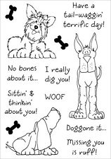 "Inky Antics Clear Stamp Set 5.5""X4""-Delightful Dogs #2"