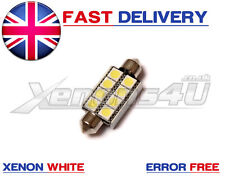 1x Festoon 10x42 42mm C10W SV8,5 8 Smd High Power LED Lampadina Canbus Xenon Bianco