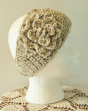 Adult/Teen Oatmeal Colored Handmade Crochet Flower Headband