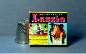 Dollhouse Miniature 1:12 Lassie Game and Photo 1950s TV Dog dollhouse  boardgame
