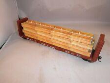 JD HO Lumber Loads Unplacarded Green Lmbr 52' Bulk-Head Flat Load #1      Red EP