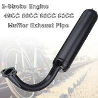 Durable 49cc-80cc 2 Stroke Engine Motorized Bicycles Bike Muffler Exhaust Pipe