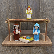 Native American Beadwork Zuni Beaded Nativity by Hollie Booqua