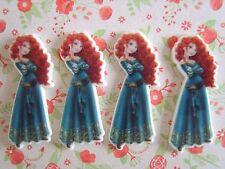4 x Princess Merida Flatback Planar Resin Embellishment Hair bow Craft UK