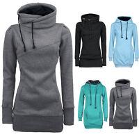Hot Women Loose Long Sweatshirt Pullover T-Shirt Hooded Blouse Hoodie Coats Plus