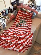 Carbone Kleid 122 128 Chucks Rüschen Volant Stripes Cool