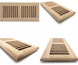 """12"""" x 4"""" Decorative Wood Supply Air Vent HVAC Duct Cover Grille - Red Oak Wood"""