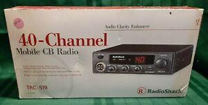 40 Channel Mobile CB Radio RadioShack TRC 519 ACE - Open Box