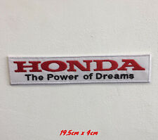 Honda the power of dreams art badge Embroidered Iron or sew on Patch