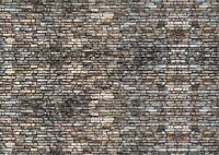 1/18 - 1:24 scale (3xA4) Garage stone wall - Peel and Apply /model car 27