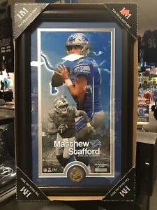 Matthew Stafford Detroit Lions Framed W/Glass 12x20 Serial#17/2500 Limited