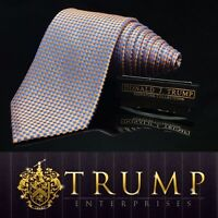 DONALD J. TRUMP~ SIGNATURE COLLECTION Silver Blue Checkered MAGA POWER TIE