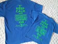 "Two Gymnastics T shirts Matching ""Keep calm and . On"" adult L & child M Blue"