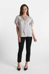 NWT Peace Of Cloth Jerry Cosmopolitan Sateen Black Pants Ladies 4 10 12 14 NEW