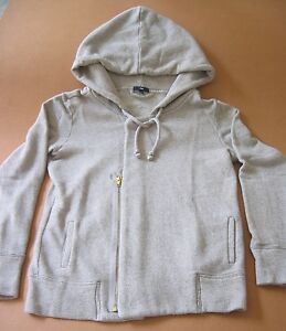 "GAP~Sz M~42"" bust~Hood zip knit Top~lounge~sport~hoodie~stretchable~100% cotton"
