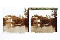 Montreuil-Bellay Château Francia Foto Stereo T2L2n Placca Da Lente Vintage