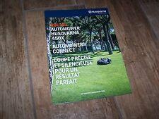Catalogue / Brochure Tondeuses robotisées / Automower HUSQVARNA  2016 //