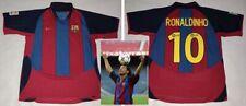 RONALDINHO hand signed autographed 2003 Barcelona Debut Jersey PROOF Brazil
