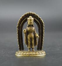 Chinese collection archaize brass Tantric Buddha small statue