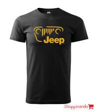 T-SHIRT UOMO Jeep GIROCOLLO MAGLIA MAGLIETTA Jeep
