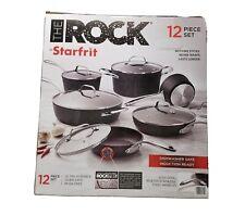 The Rock by Starfrit 12 Piece Cookware Set Rocktec Dishwasher Safe Nonstick