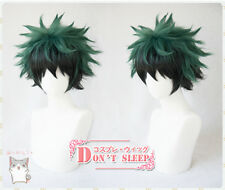 My Hero Academia Izuku Midoriya Deku Short Green Black Mix Cosplay Hair Wig Cap